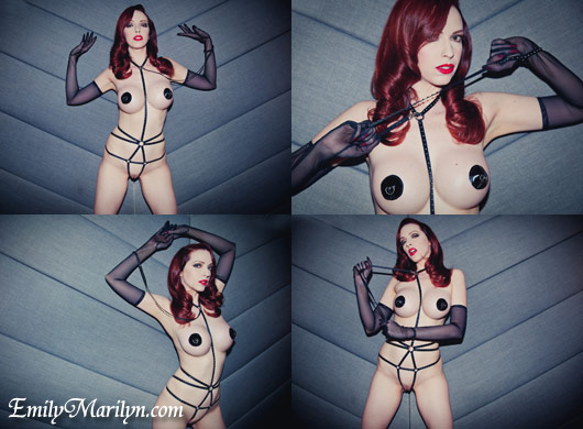 Emily Marilyn fetish model bullet harness pix by Corporate Vampire