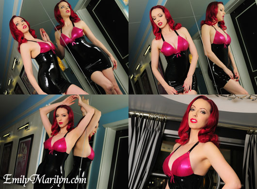emily marilyn in latex