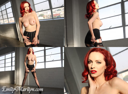emily marilyn sexy seams