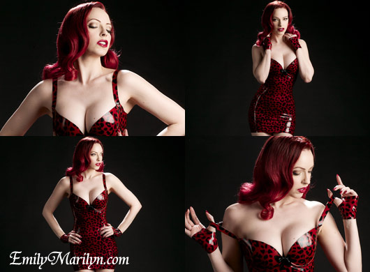 emily marilyn latex leopard print dress