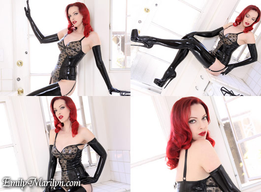 emily marilyn retro lace latex lingerie