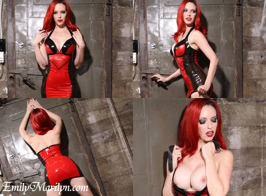 Emily Marilyn cathouse clothing latex that sexy latex dress