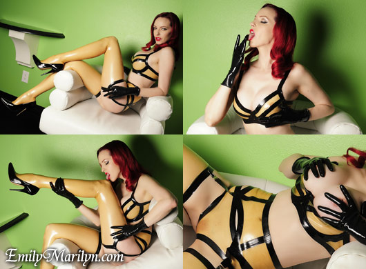 Emily Marilyn trans latex high gloss dolls rubber fetish sexy