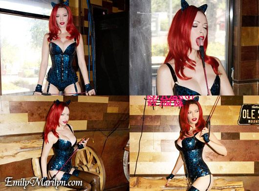 Emily Marilyn kinky rubber kitty