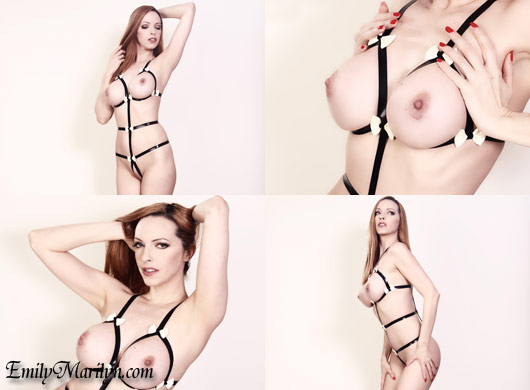emily marilyn fetish model strappy latex lingeir high gloss dolls katja ehrhardt
