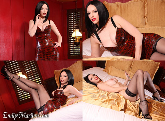 emily marilyn kinky dress in latex