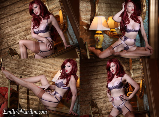 Emily Marilyn legtease diva