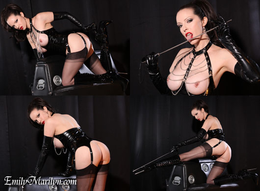 Emily Marilyn pvc chain basque and boots