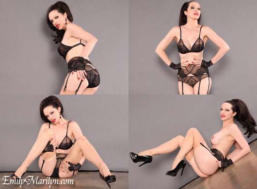 Emily Marilyn lace lingerie vintage stockings
