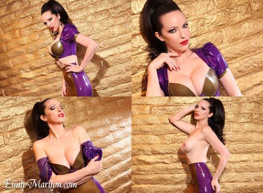 Emily Marilyn epress of erotica latex fetish