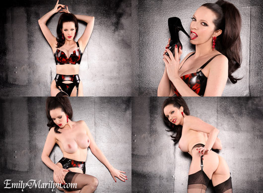 Emily Marilyn latex lingerie