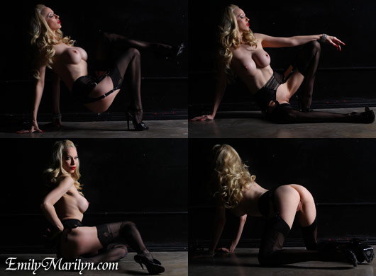 Emily Marilyn Drama QUeen stocking tease