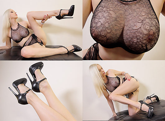 Emily Marilyn ride me gio stockings manhattan heel agent provocateur lingerie italian heels stilettos