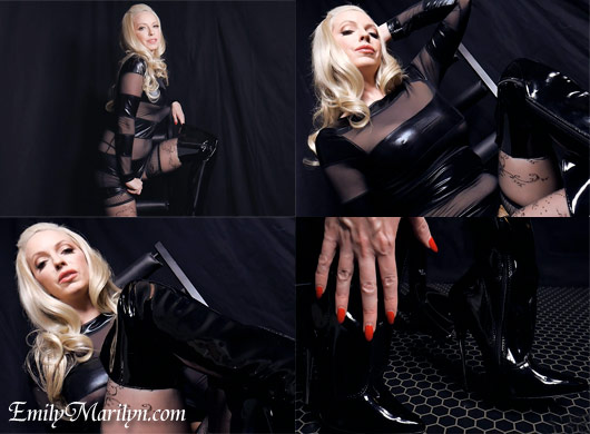 Emily Marilyn dominatrix in boots