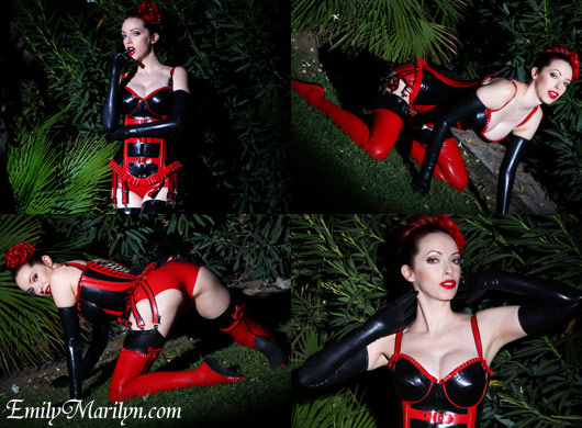 Buckles and straps latex fetish