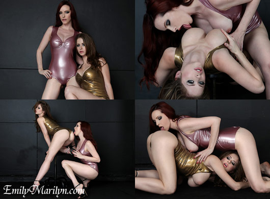 Latex Lust Emily Marilyn and Emily Addison