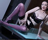 Emily Marilyn stocking lingerie tease
