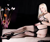 Emily marilyn chained agent provocateur chain lingeire rht stockings backseams high heels